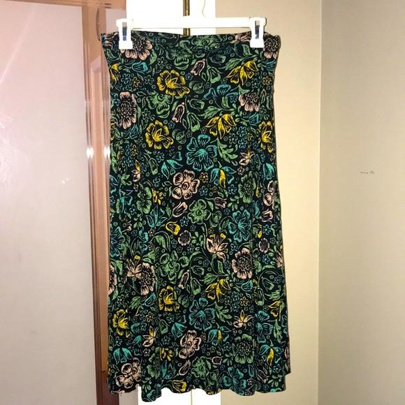 LulaRoe midi stretch skirt M in EUC